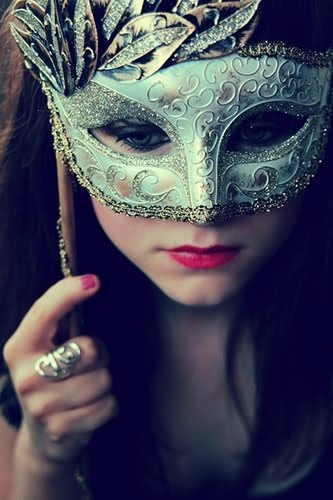 A girl in a mask