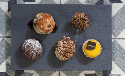 Picture of a cake selection at Aubaine