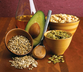 Picture of nuts, seed and advocado
