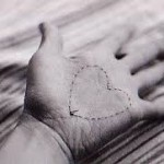 A hand with a heart drawn on it