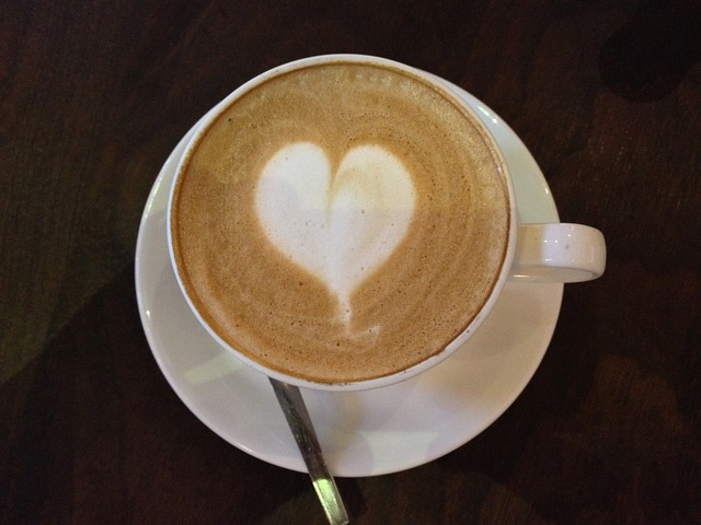 coffee with a heart in it