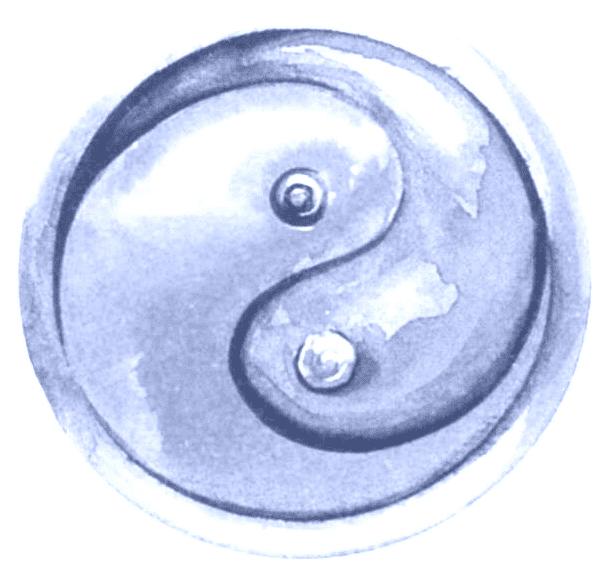 Blue Yin Yang