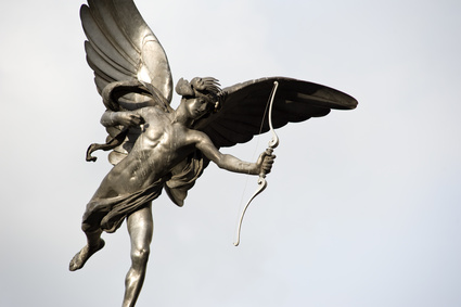 Eros love statue at Piccadilly Circus. London