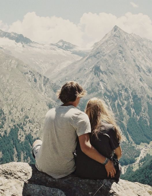 Couple looking at a scenic view