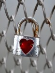 Padlock with a heart on it