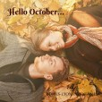 Couple in Autumn leaves